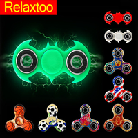 27 Patterns Fidget Spinner Hand Tri Spinners Batman Glow Light Finger Figet Spiner Cube Focus Anti Stress Relief EDC Toys Gifts
