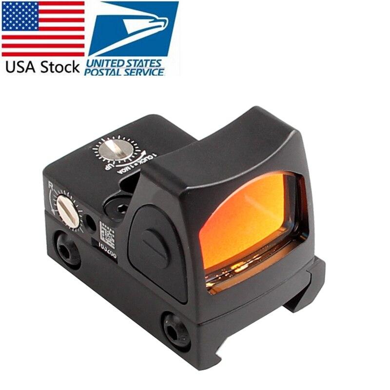 NOUS Stock Mini RMR Red Dot Sight Collimateur Glock Riflex Portée Pour La Chasse Airsoft fit 20mm Weaver Rail RL5-0004-2