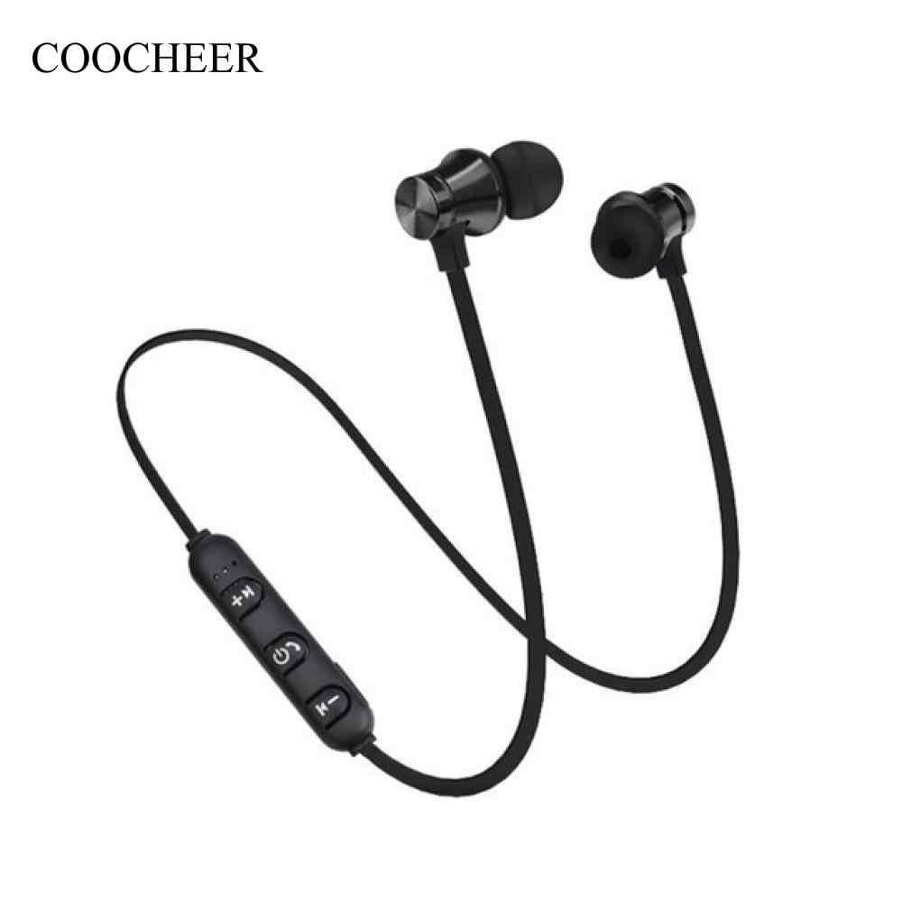 21bbdd25439 Magnetic In-Ear Earbuds Magnetic Wireless 4.1 Bluetooth Earphone Headset  Sports Stereo Headphone Stereo Earphone