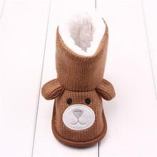 Baby Winter Boots Infant Toddler Newborn Cute Cartoon Bear Shoes Girls Boys First Walkers Super Keep Warm Snowfield Booties Boot