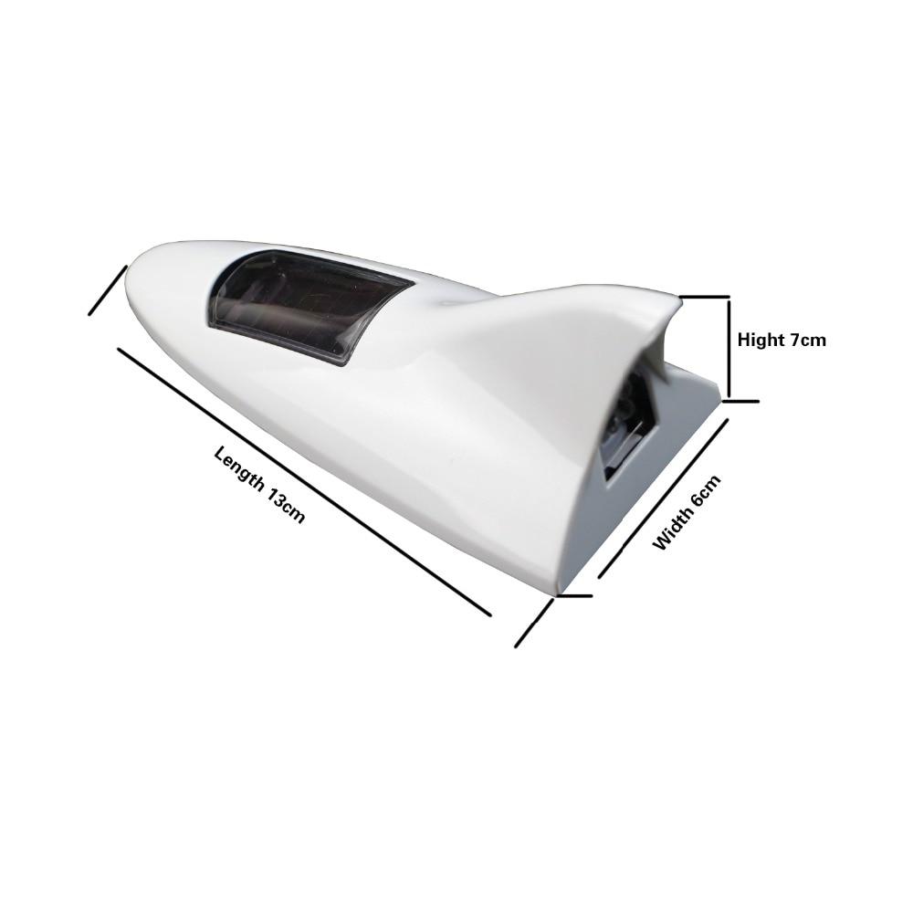 KIMISS Car Solar Powered LED Warning Light Outdoor Antenna Lamp Alarm Light Car Accessories RED