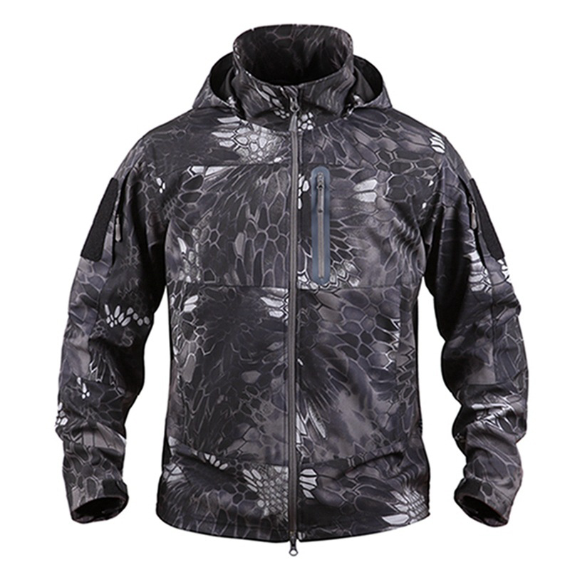 Outdoor Men's Camping Tactical Jacket Military Camouflage Cotton Breathable Waterproof Jacket Trekking Climbing Training Jackets