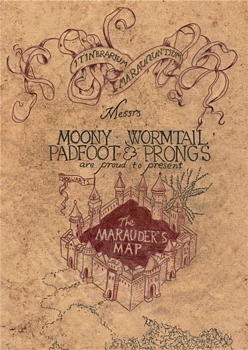 Top Marauders Map Poster Images - Printable Map - New ...