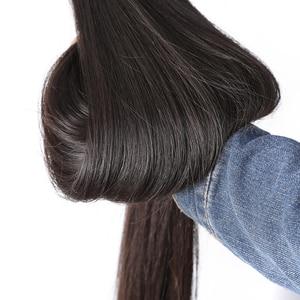 Image 5 - Rosabeauty Natural Color Long Peruvian Hair Straight Human Hair Weave 3 4 Bundles Unprocessed Raw Virgin Hair 30 28 Inches