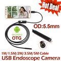 5 М 3.5 М mini USB Камеры Эндоскопа 2 М 1.5 М 1 М IP67 Водонепроницаемый Змея Труба инспекции Android OTG USB Бороскоп Камеры
