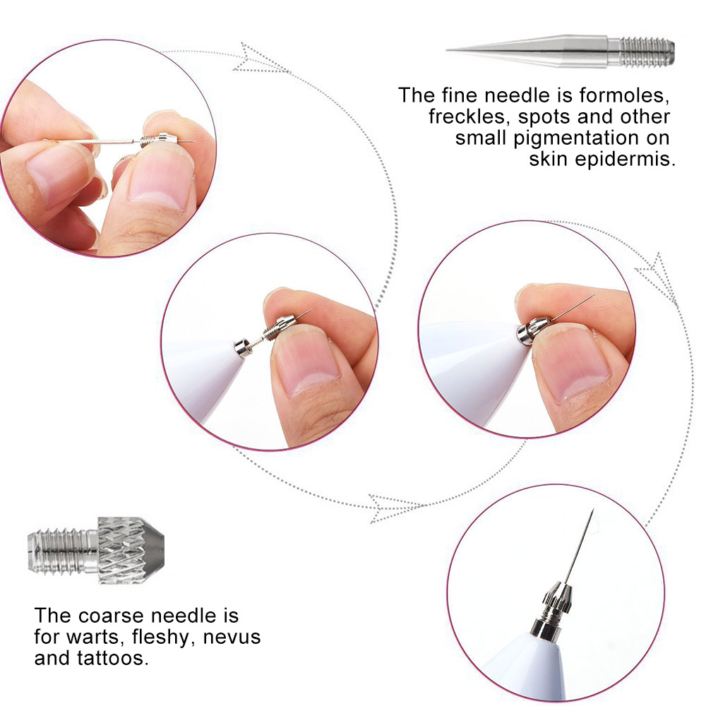 LED Laser Mole Remover Pen Sweep Spot Tattoo Freckle Wart Corns Dark Spot Removal Beauty Machine for Face Skin Care 6 Level in Face Skin Care Tools from Beauty Health