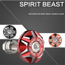 SPIRIT BEAST Motorcycle Screw Cover Modified Accessories Scooter Decorative Aluminum Alloy License Plate Cap