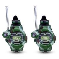 1 пара lcd радио 150 м часы рация 7 в 1 Детские часы радио наружный домофон игрушка (Цвет: зеленый)