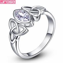 Brand JROSE Fashon Women Bridal White Topaz Wedding Jewelry 18K Gold Plated Ring Size 6 7 8 9 10 Free Shipping Wholesale