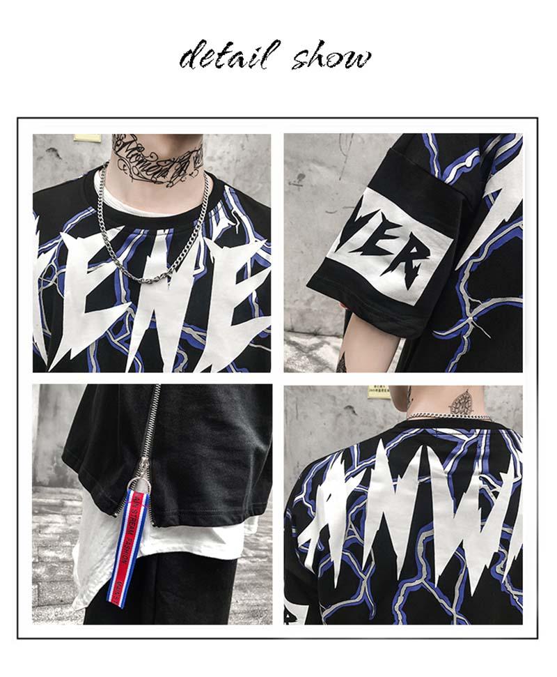 Graphic Tshirts Men Fashion Casual Short Sleeve   (1)