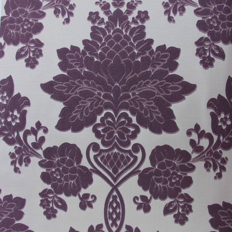 beibehang suede purple 3d flocking Wall covering papel de parede 3d WallPaper Roll Living room Bedroom wall papers home decor набор автомобильных 3d ковриков novline autofamily для kia soul 2014 в салон 4 шт