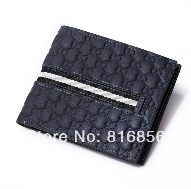 3f551f984ebf0f Cucci Free Shipping Brand name genuine Leather Wallet for men + Gent  Leather purses+ brand orginal gift box brand purse