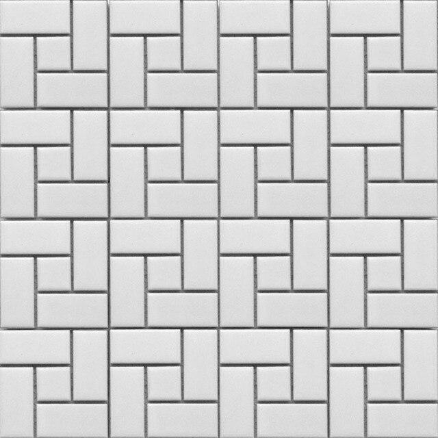 € 22.53 |11 pieds carrés noir et blanc brique céramique mosaïque carrelage  cuisine dosseret salle de bain mur douche couloir cheminée frontière ...