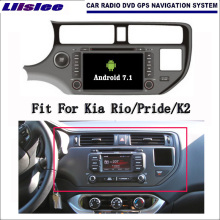 Liislee Android 7,1 2G RAM para Kia Rio/orgullo/K2 auto-Radio Audio Video Multimedia reproductor de DVD WIFI DVR GPS Navi navegación
