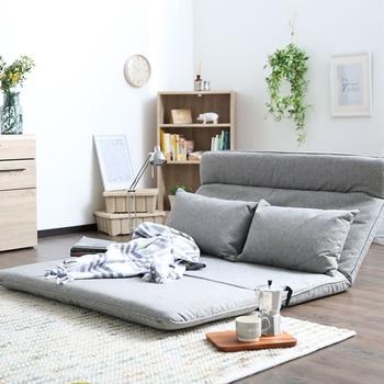 Гостиная футон стул диван кровать мебель японский напольный, без ножек современная мода для отдыха, из ткани раскладной диван кресло кроват... >> DAMEDAI Fascinating Store