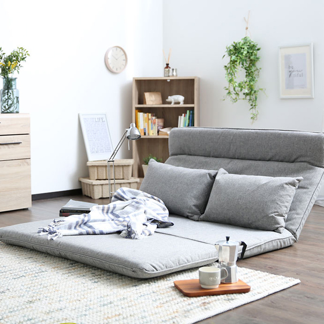 Living Room Futon Chair Sofa Bed Furniture Japanese Floor Legless Modern  Fashion Leisure Fabric Reclining Futon