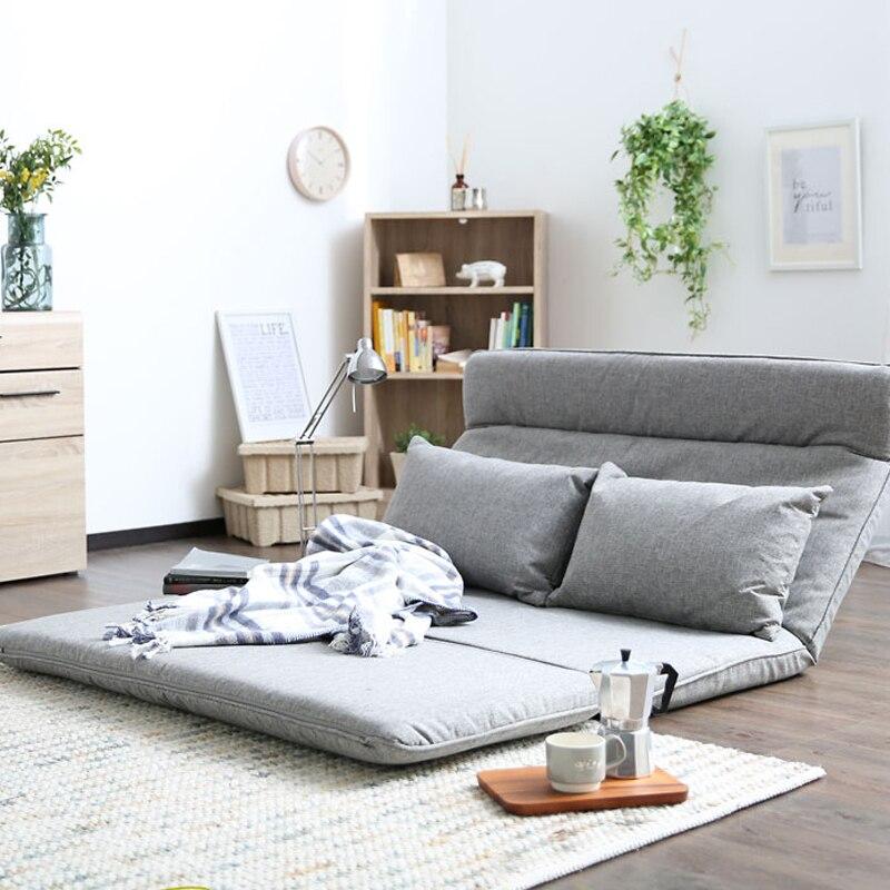 Salon Futon krzesło Sofa meble łóżko japoński piętro beznogie nowoczesne moda materiał wypoczynkowy rozkładane Futon Sofa krzesło łóżko
