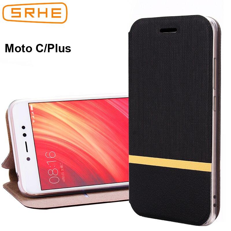SRHE Per Motorola moto C Più La Cassa Per Moto C Vibrazione cuoio Posteriore Del Silicone Per Motorola MotoC CPlus Con Slot Per Schede supporto