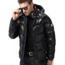 Nueva chaquetas de los hombres abajo chaqueta 90% pato abajo Parka invierno caliente para-30 grados chaquetas a prueba de viento 2062M1B