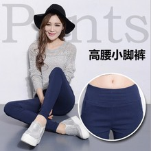 2016 new spring wear pants waist tight black jeans pencil Ms.