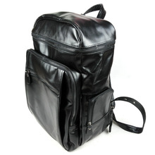 Genuine Leather Men travel Backpack  Korean Fashion Oil Wax Laptop Backpack