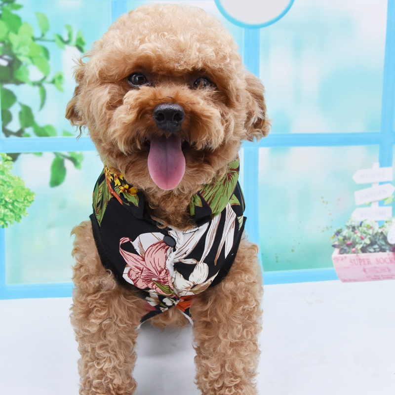 Pet Autumn Winter Thickening Warm 2 Legged Costume Tops Plants Flowers Printed Outfit Clothing Cotton Padded Sweater in Dog Hoodies from Home Garden