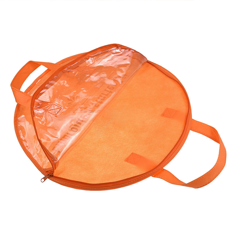 Portable Orange Embroidery Storage Bag 1PC 35cm Round Embroidery Hoop Bag Eco-friendly Non-woven Sewing Bag Organizer