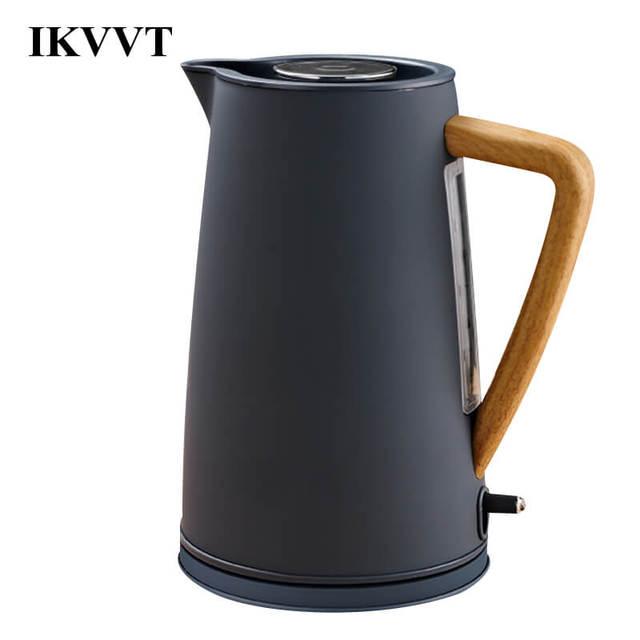 Sraintech 1800 Вт Нержавеющаясталь Электрический чайник с деревянной Пластик ручка 1.7l #304 Еда Класс ss нагрева воды в 5 минут