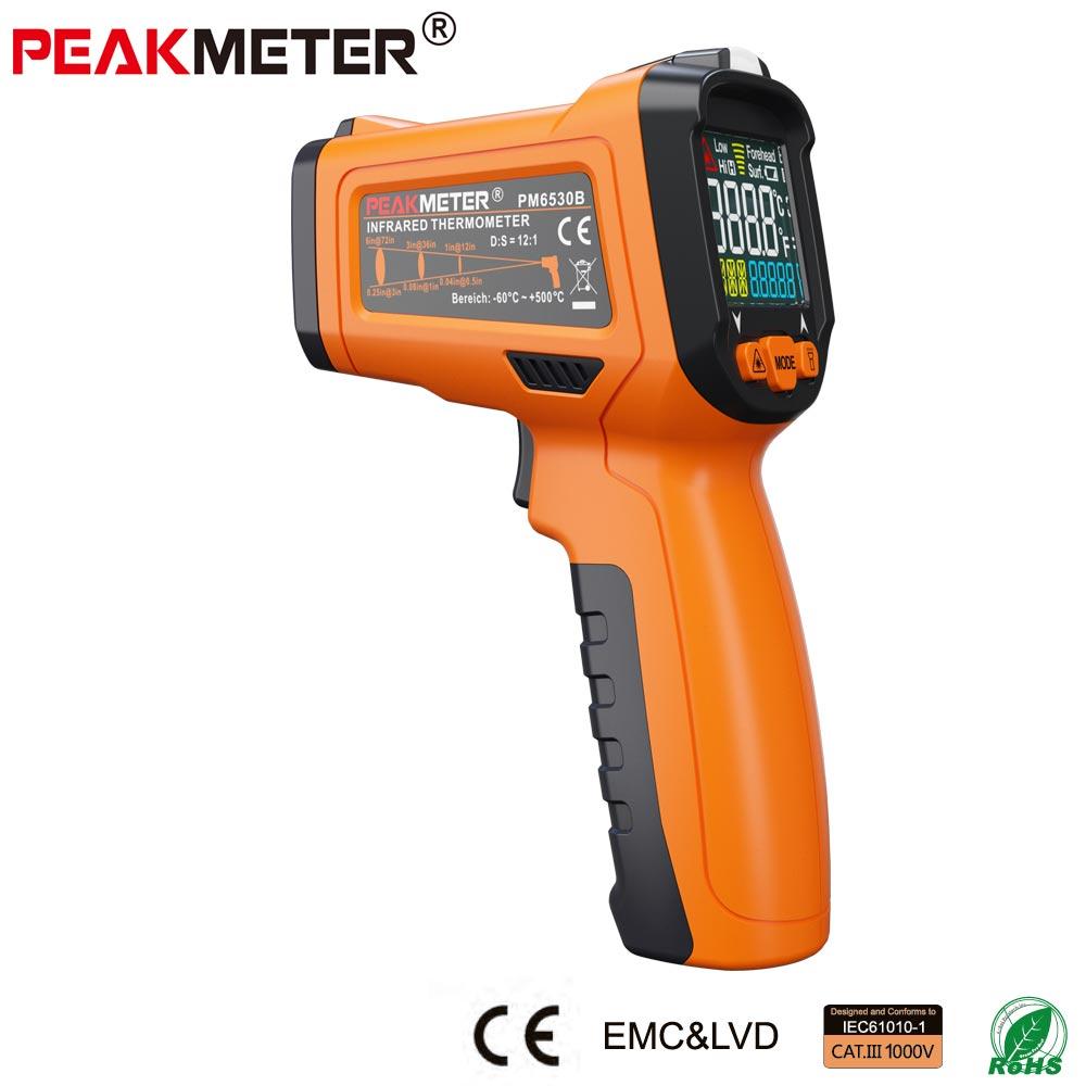Peakmeter termómetro infrarrojo láser digital higrómetro K-tipo UV luz electrónica sensor de temperatura medidor de humedad exterior