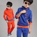 New 2016 Autumn Children Clothing Set Hoodies Boys Tracksuits boys coat pants Kids Casual Clothes Age 4-12 age kids suit