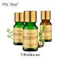 Top Natural Pacote de Óleos Essenciais para Aromaterapia Spa Banheira de Massagem (subiu Sândalo Camomila) Ombro rosto Óleo de Cuidados Com Os Pés 10 Ml * 3