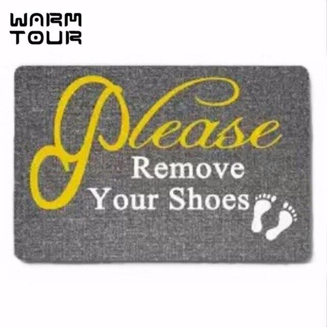 5081f0bee1fd1 US $13.26 20% OFF|WARM TOUR Burning Love Short Please remove your shoes  Printed Doormat , Non slip Doormats Indoor/Outdoor Mat 60(L)x40(M)cm-in  Carpet ...