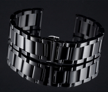 R Watch Bracelet Watchband 22mm Black Stainless Steel Watch Band For L G Smart Watch Accessories