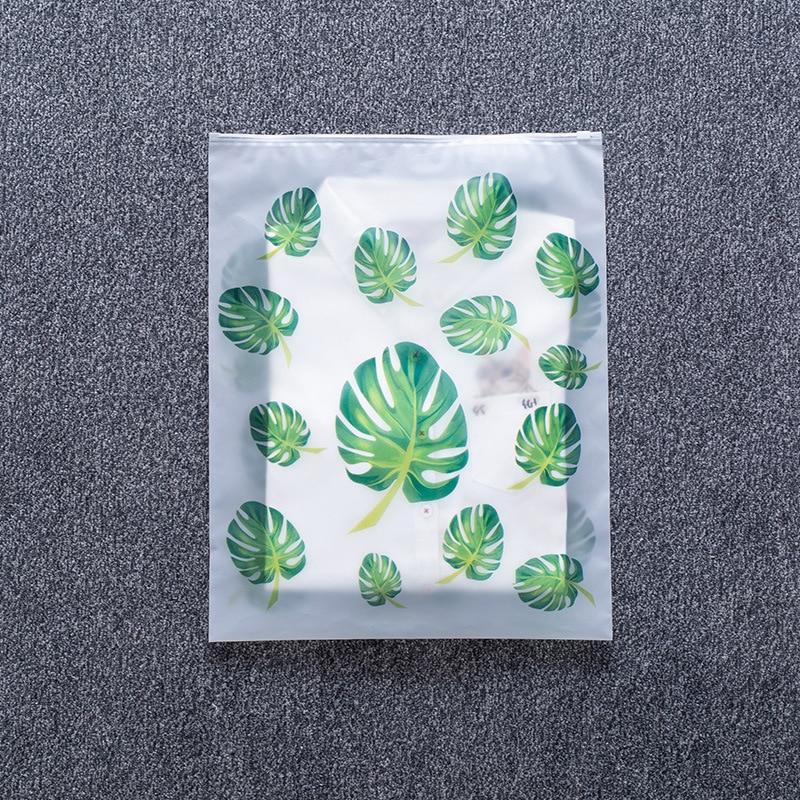 Transparent Plant Cosmetic Bag Travel Makeup Case Women Zipper Make Up Organizer Storage Pouch Toiletry Wash Kit Beauty Bath Box 3