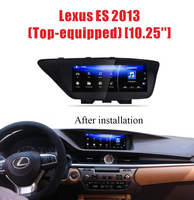 Car android multimedia for Lexus ES200 ES250 ES300 2013 to 2018 with Octa Core CPU 10.25 screen 1280*480 resolution 1080p video