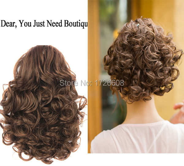 New Women Big Curly Chignon Clip in Elastic Band Fake Hair Bun Updo  Hairpiece Extension Accessories Synthetic Natural Hair Style 52722ef0013