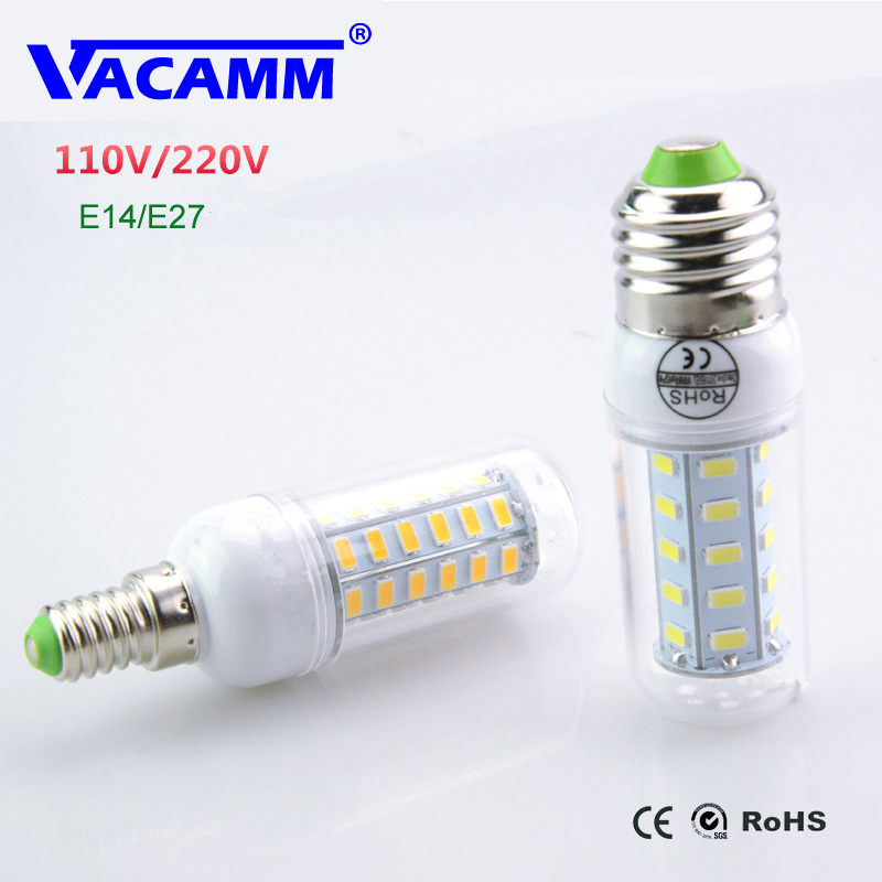 Lampada Led Lamp 110v 127v 220v E27 E14 Led Light 5730 Smd