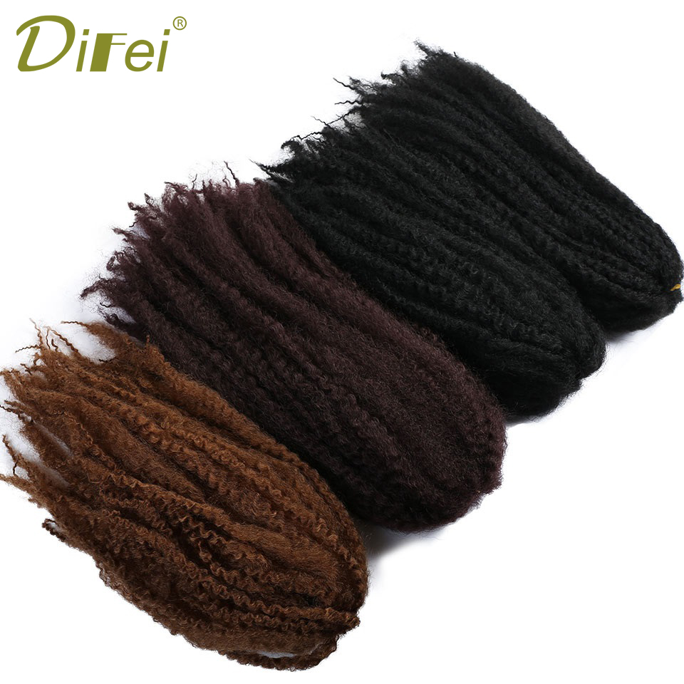 DIFEI Black Caterpillar Wig African Wig Catcher afro kinky curly Fluffy Bumper Hair Extension