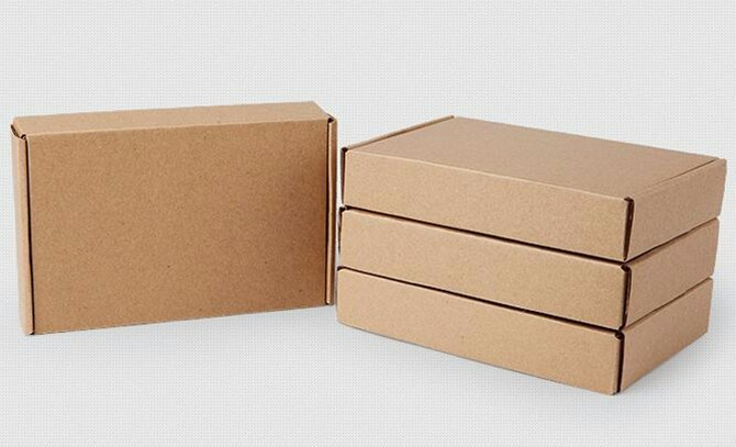 24*15*4cm 10pcs/lot Kraft Paper Box Post Pack Packaging Storage Online Shopping Express Kraft Paper Boxes Mailing Box
