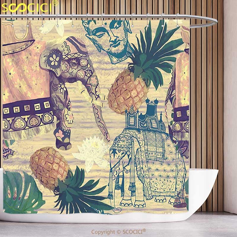 Zodiac Shower Curtain Aquarius Lady with Pail Print for Bathroom