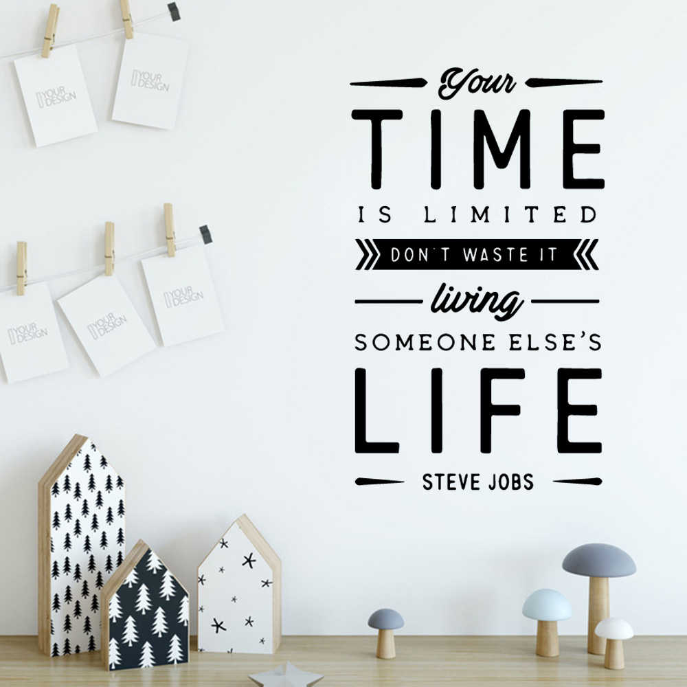 Home Decorating Jobs: Creative Steve Jobs Quote Waterproof Wall Sticker Home