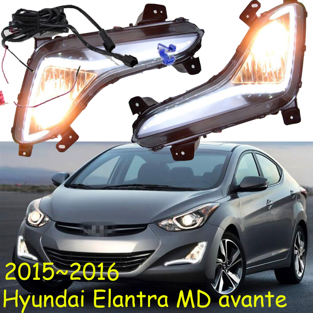 ФОТО Car-styling,Elantra daytime light,MD Avante;2015~2017,chrome,LED,Free ship!2pcs,car-detector,Elantra fog light,car-covers,MD