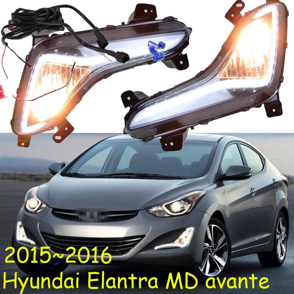 Car-styling,Elantra daytime light,MD Avante;2015~2017,chrome,LED,Free ship!tucson,ix35,ix45,Elantra fog light,car-covers,MD hyundai avante md напрямую из кореи