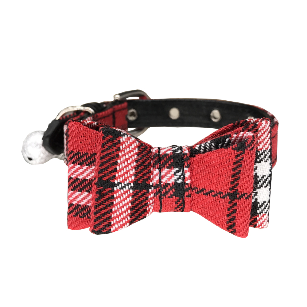 Cheap New style plaid dog collar lattice of England dog collar bow tie pet pupply product dog & cat necklace S
