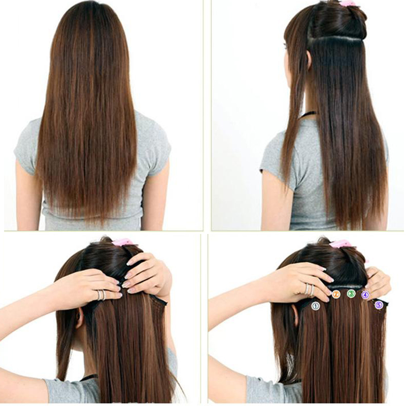 Free shipping long 17 29 inch synthetic clip in hair extensions free shipping long 17 29 inch synthetic clip in hair extensions high temperature fiber curly hair extension multicolor 150g on aliexpress alibaba pmusecretfo Gallery