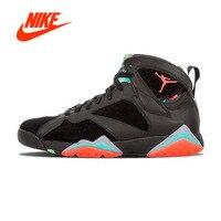 Оригинальный Новое поступление Аутентичные NIKE Air Jordan 7 Ретро 30th Барселона ночи Мужская баскетбольная обувь кроссовки дышащая Спортивная