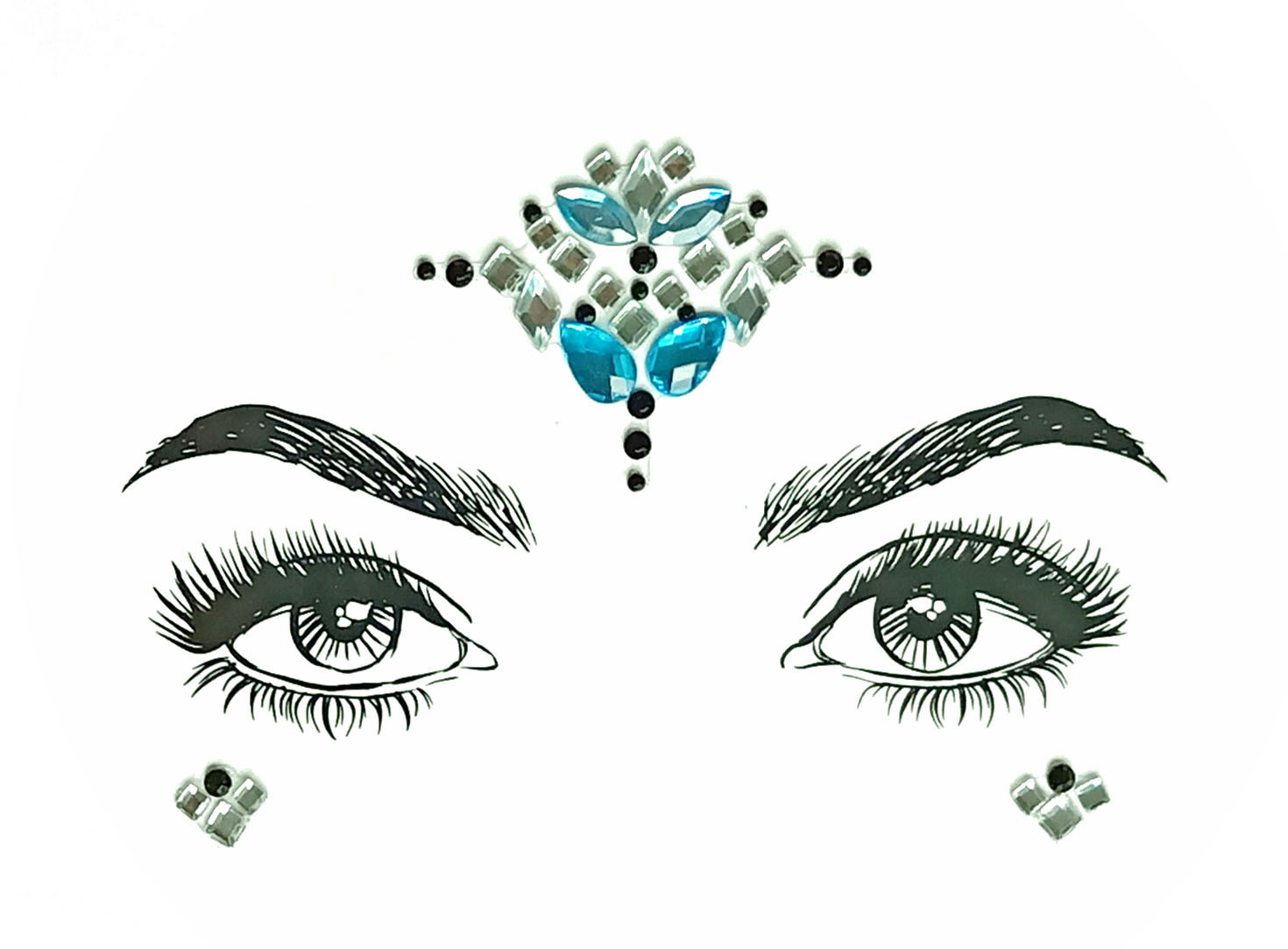 83a479c010 Christmas DIY Eyebrow Face Body Art Adhesive Crystal Glitter Jewels  Festival Party Eye Tattoo Stickers Makeup Xmas Decor Temporary Lip Tattoos  ...