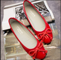 Freeshipping Best Selling Lady Fashion Flat Shoes Cool Girls Bowtie Flats Elegant Woman OL Shoes PU leather Shoes V048
