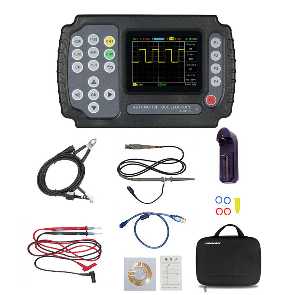 ADO102 Automotive <font><b>Oscilloscope</b></font> Handheld Digital Storage <font><b>Oscilloscope</b></font> And Digital Multimeter Car Repair Diagnostic Instrument image
