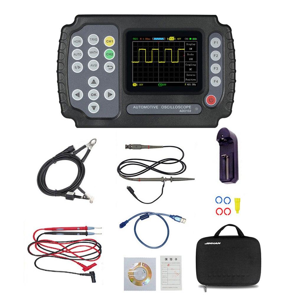 ADO102 Automotive Oscilloscope Handheld Digital Storage Oscilloscope And Digital Multimeter Car Repair Diagnostic Instrument